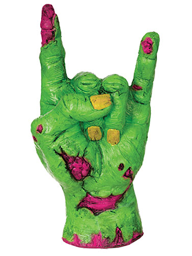 Neon Comical Zombie Hand - Rock On