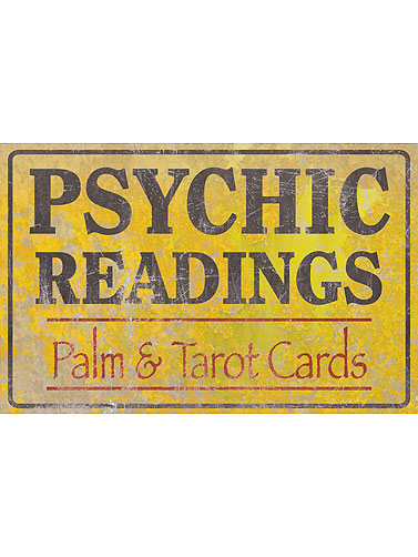 Psychic Readings Horizontal Metal Sign