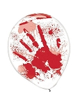 Bloody Handprint Latex Balloons
