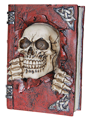 Skull on Book Bank