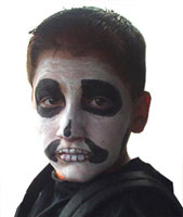 Skull Face Makeup Example