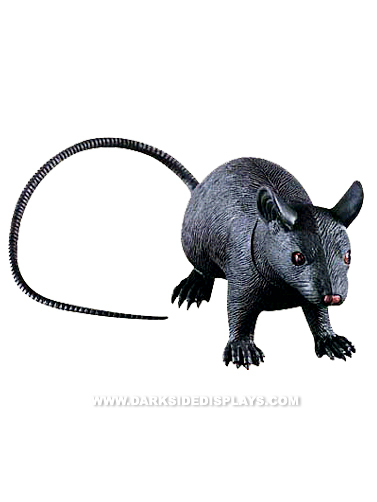 Small Black Rubber Rat
