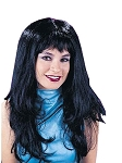 Long Layered Black Wig