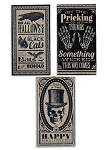 Vintage Halloween Sign Set