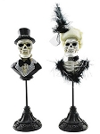 Costumed Skeletal Bust Couple