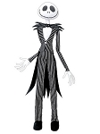 Nightmare Before Christmas Hanging Jack Skellington