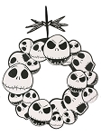 Jack Skellington Wreath Sign