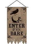 Boneyard Burlap Door Banner