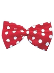 Red Polka Dot Clown Bow Tie
