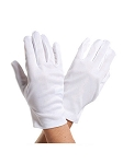 White Cotton Costume Gloves