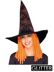 Spider Witch Hat with Hair
