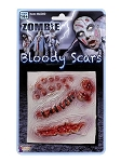 Bloody Latex Zombie Scars