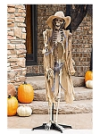 Standing Light-Up Cowboy Skeleton
