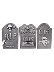 RIP Tombstones Set of 3