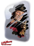 Freddy Krueger Misty Face Glass Cling