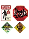 Zombie Sign Magnet Set