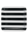 Black and White Stripes Paper Plates