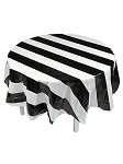 Black and White Stripes Table Cover