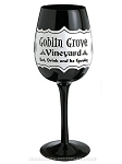 Goblin Grove Black Wine Glass
