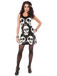 Sequin Skull Dress Costume -MD/LG