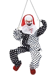 Animated Kicking Clown on Swing