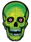Vintage Halloween Nite-Glo Skull Cut-Outs
