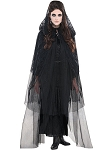 Black Lace Hooded Cape