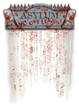 Bloody Asylum Doorway Curtain