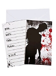 Bloody Zombie Party Invitations