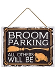 Broom Parking Wood Sign