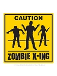 Zombie Crossing Plastic Sign