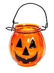 Glass Jack-O-Lantern with Handle