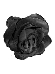 Gothic Black Clip On Flower