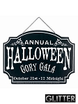 Halloween Gory Gala Metal Sign
