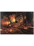 Halloween House LED Canvas Art