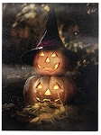 Halloween Pumpkins LED Canvas Art