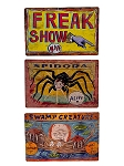 Horizontal Metal Circus Sign Set