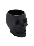 Large Black Skull Planter