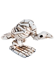 Miniature Buzzard Skeleton Figurine
