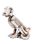 Miniature Skeleton Dog Figurine