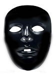 Plastic Black Face Mask