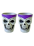 Plastic Skull Shot Glass Set - Purple