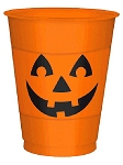 Pumpkin Face 16 Oz Plastic Cups
