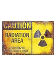 Radiation Area Metal Sign