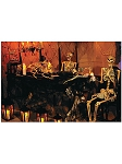 Skeleton Banquet Wall Backdrop