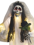 Light-Up Skeleton Bride with Bouquet