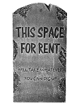 Space For Rent Tombstone