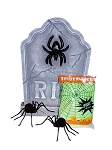 Spider Tombstone Decor Kit