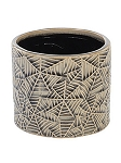 Spider Web Embossed Planter