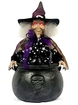 Animated Witch In Cauldron